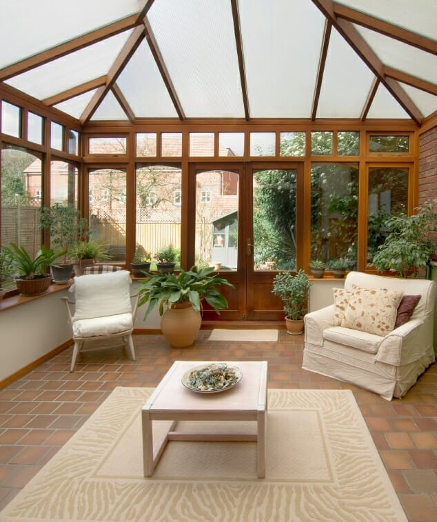 Picking the best sunroom flooring for your home modernize for Sunroom garden room