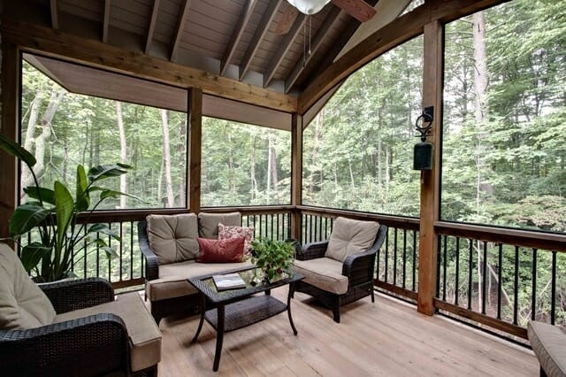 Mod-Wood Floor Sunroom