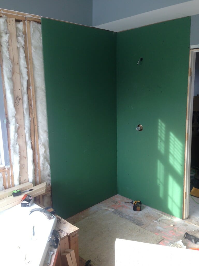 Your guide to water resistant greenboard drywall modernize for Drywall or cement board for shower