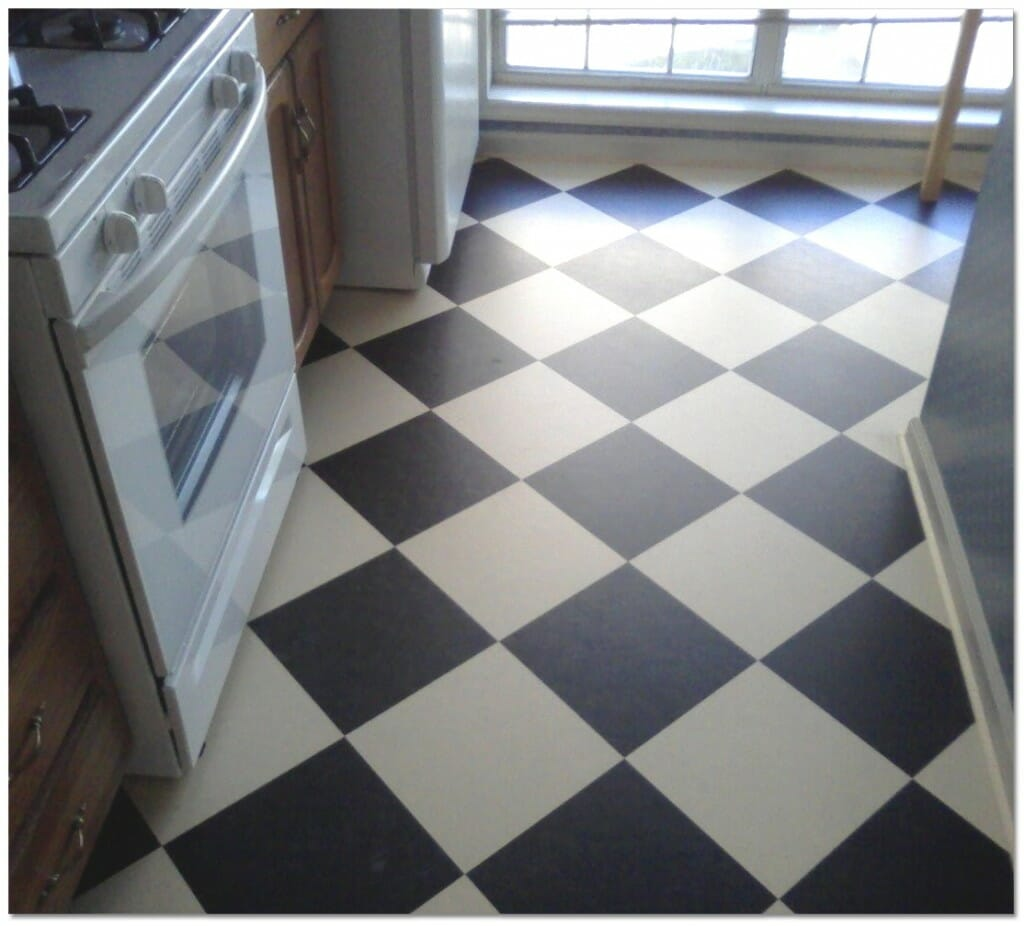 Linoleum vs vinyl modernize for Kitchen linoleum tiles