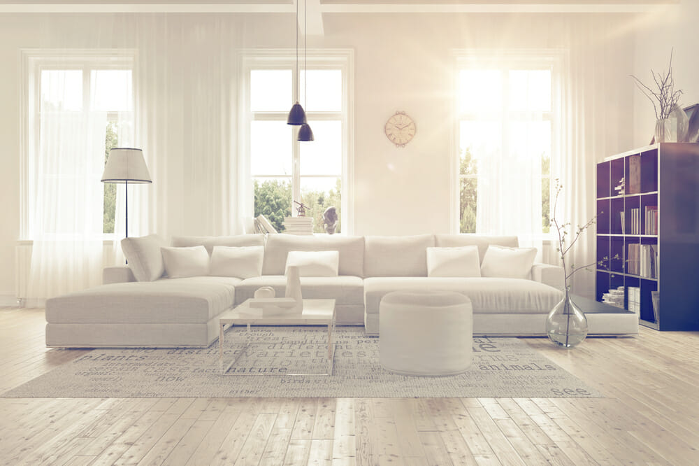 Happy Clean Modern Living Room