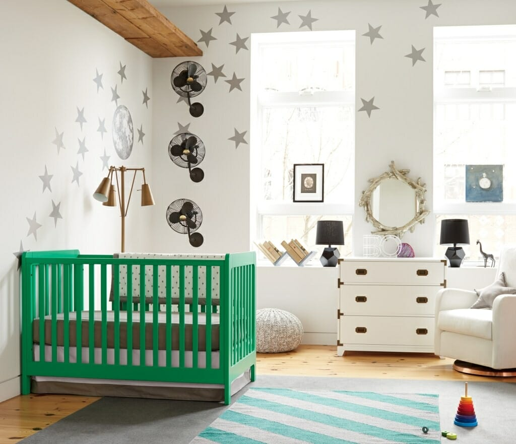 Nursery Green Crib