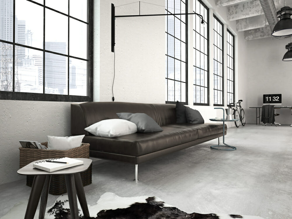 Industrial Loft Cement Floor