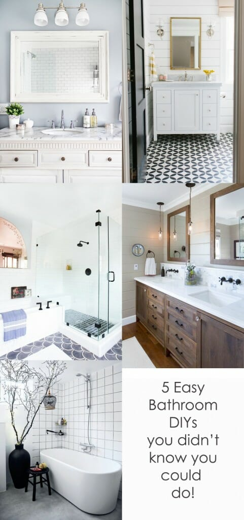 easy bathroom diys- modernize
