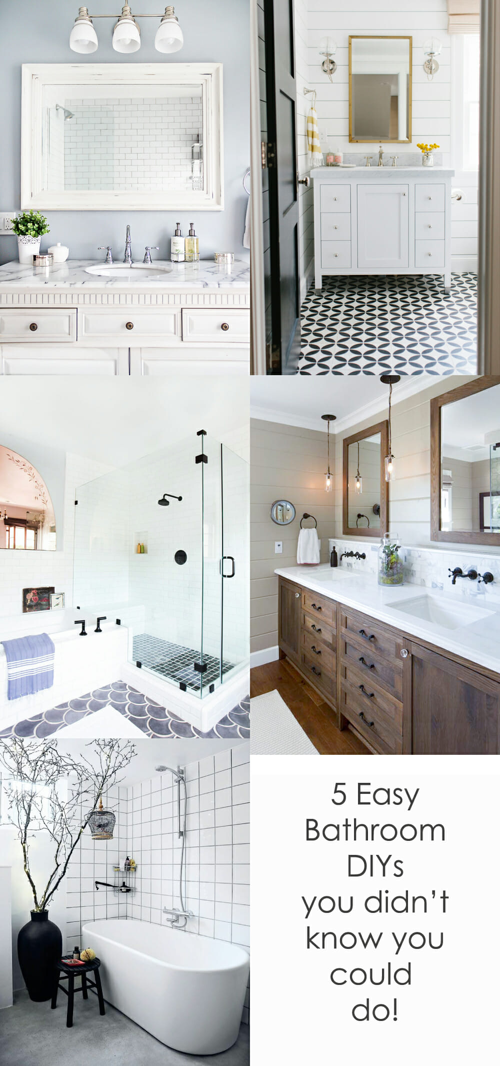 easy diy bathroom upgrades that will surprise you modernize
