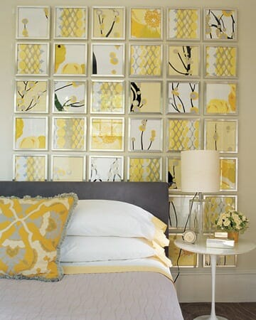 fabric wall art as a vertical quilt
