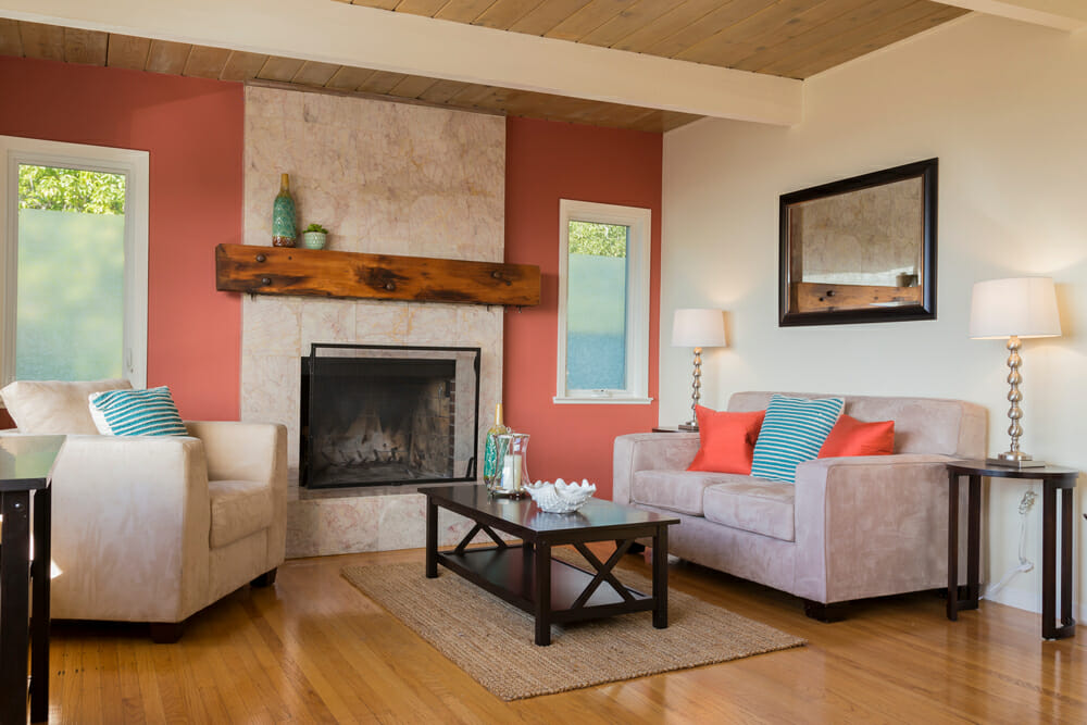 Cohesive Color Living Room