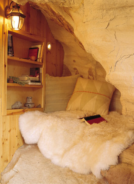 Bed in a Cave