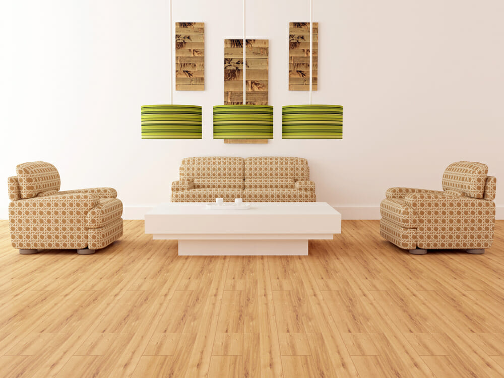 Bamboo flooring living room