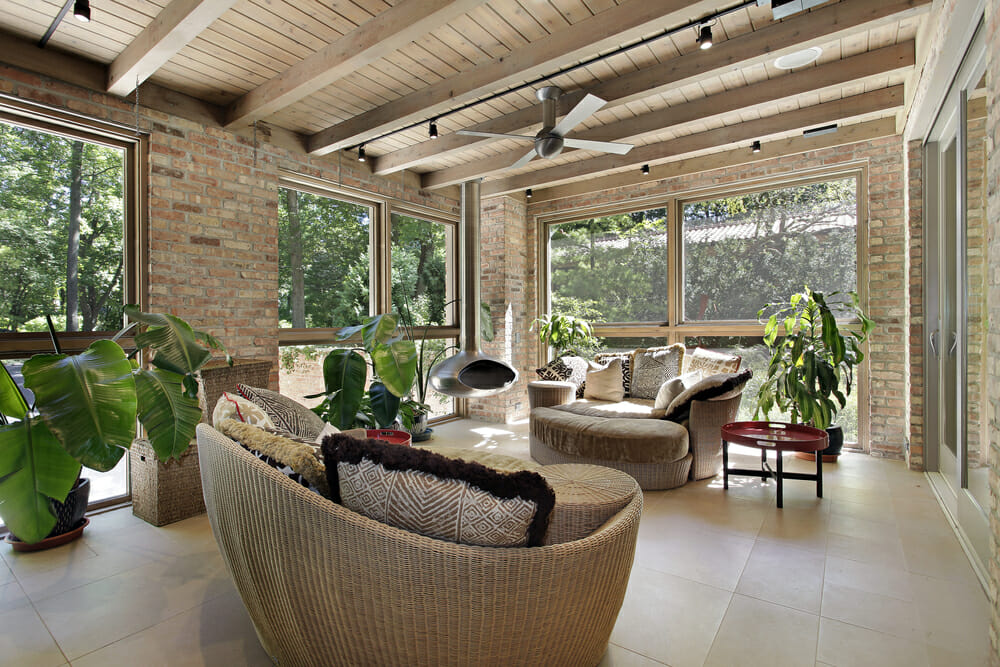 Sunrooms sunroom ideas pictures design ideas and decor for Meuble brick montreal
