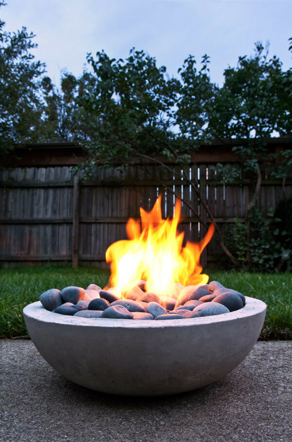 Deck With A Diy Gas Fire Pit