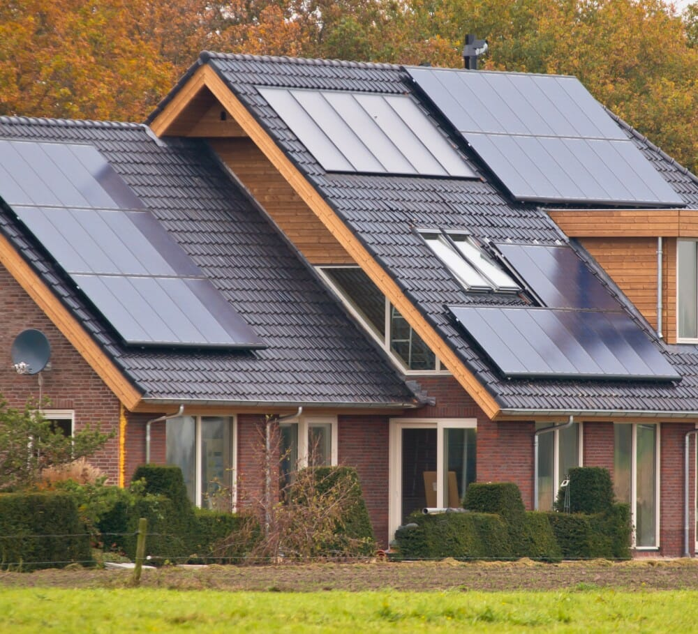 solar panels tall roof