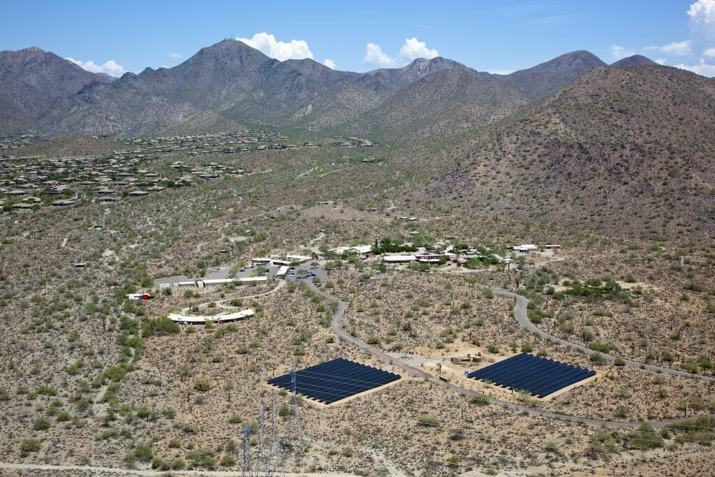 Solar panels in Arizona