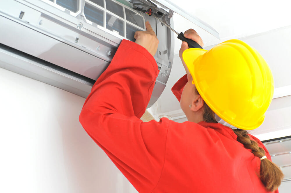 Woman Female HVAC Repair