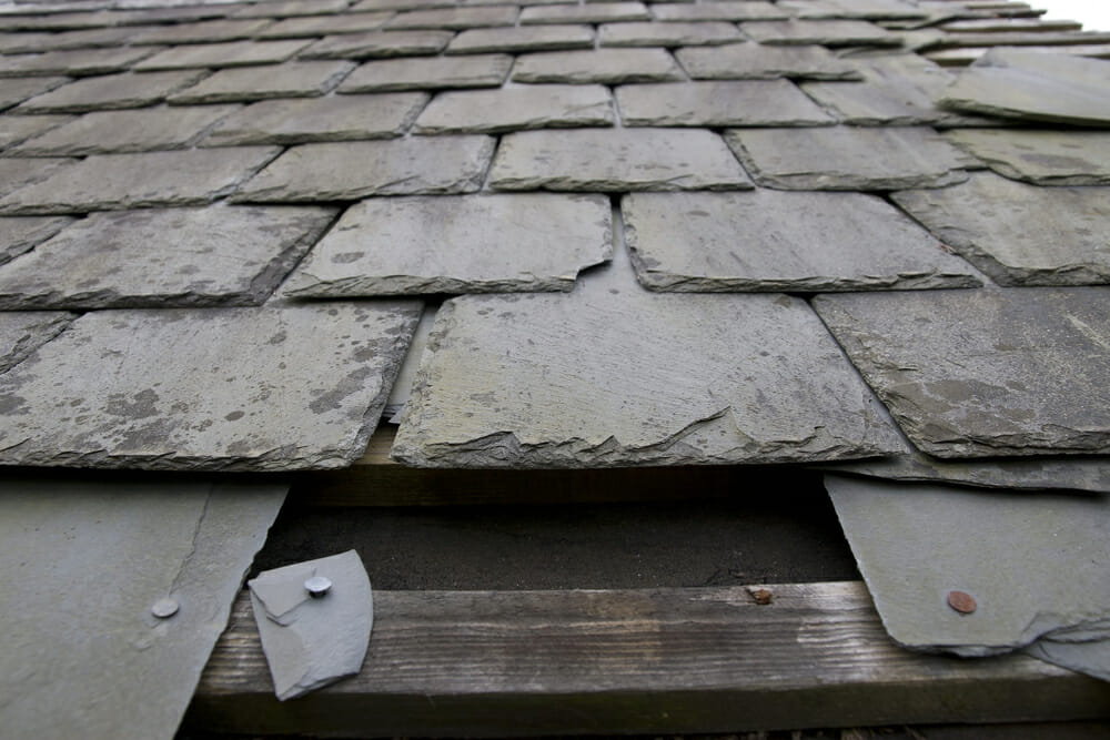 slate roof hail damage