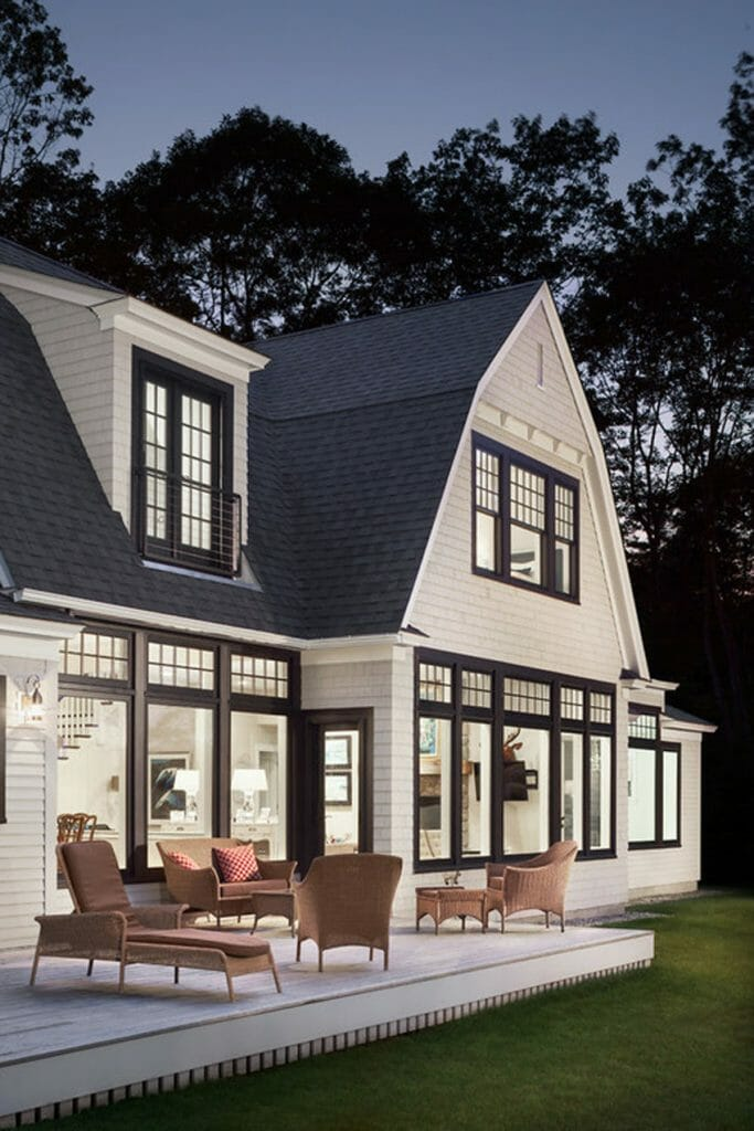 Exterior Windows For Homes : Black window trim modernize