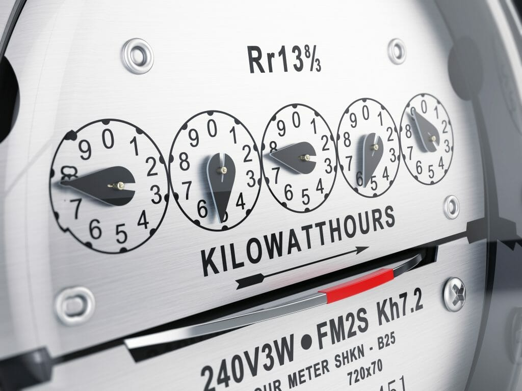 kilowatt per hour energy meter