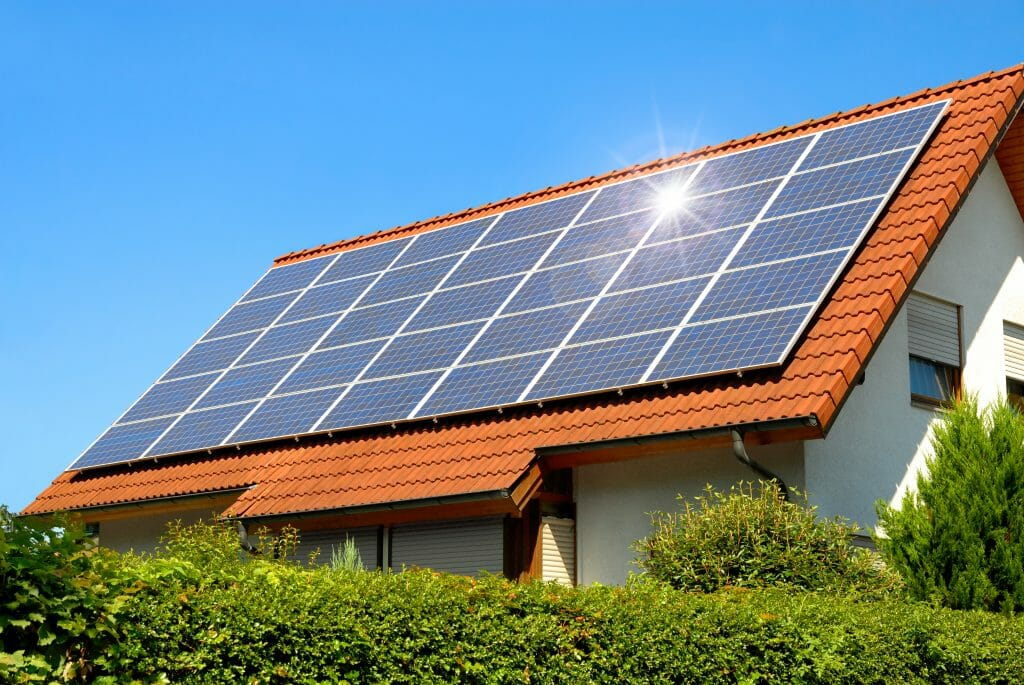 horizontal solar panels