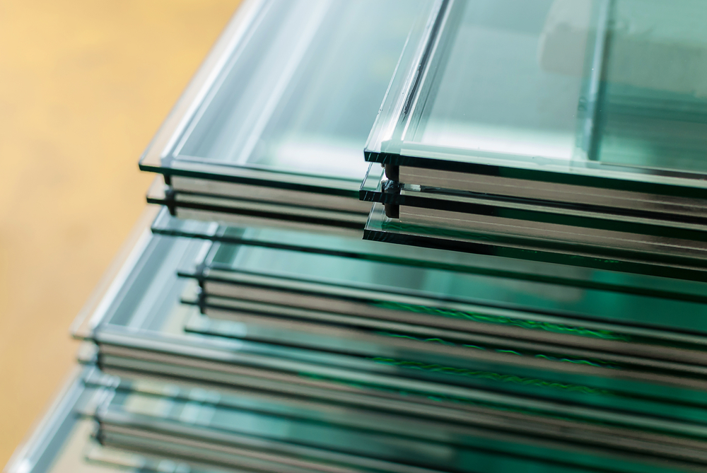 stacks of double pane glass
