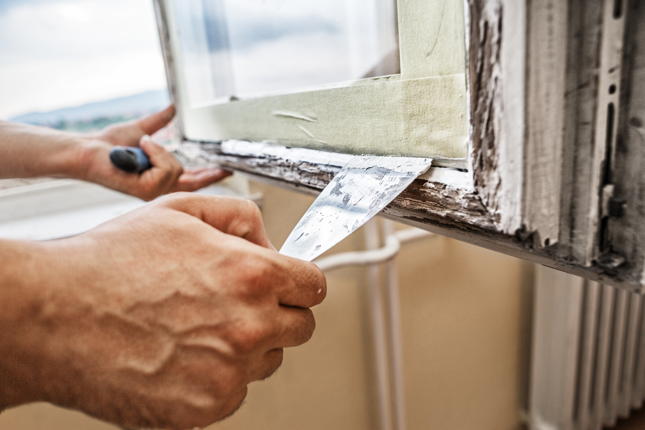 Repairing a window frame