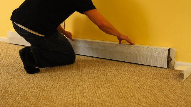 replacing baseboard heater