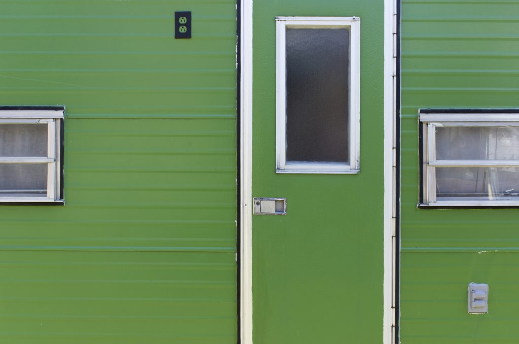 green mobile home