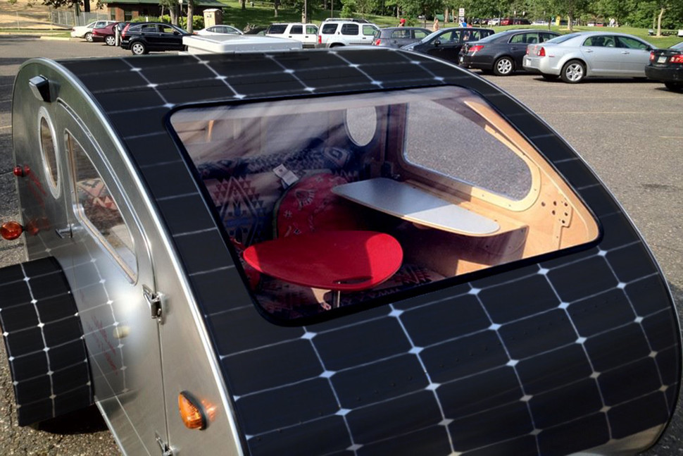 Sunflare camper with solar panels