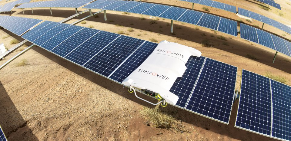 sunpower robotic cleaning technology