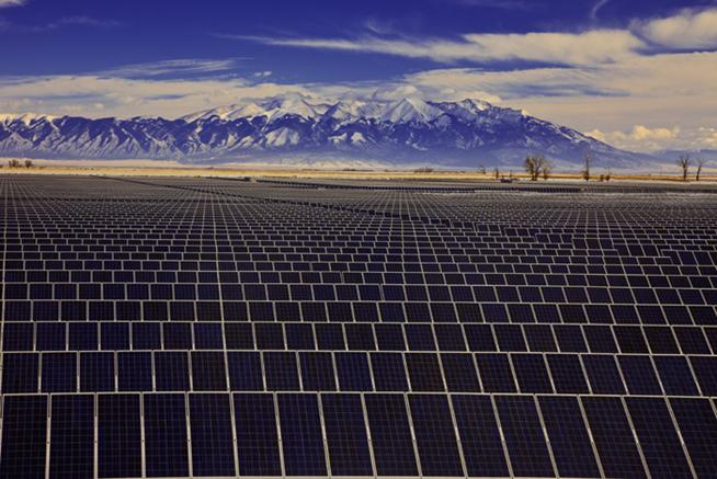 Solar farm in Nevada