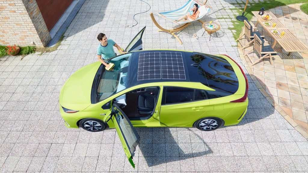 Solar-assisted Prius