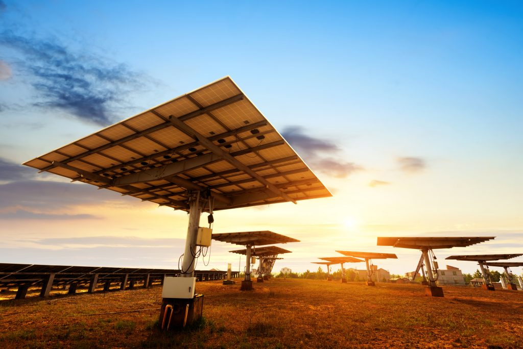 solar panels with trackers