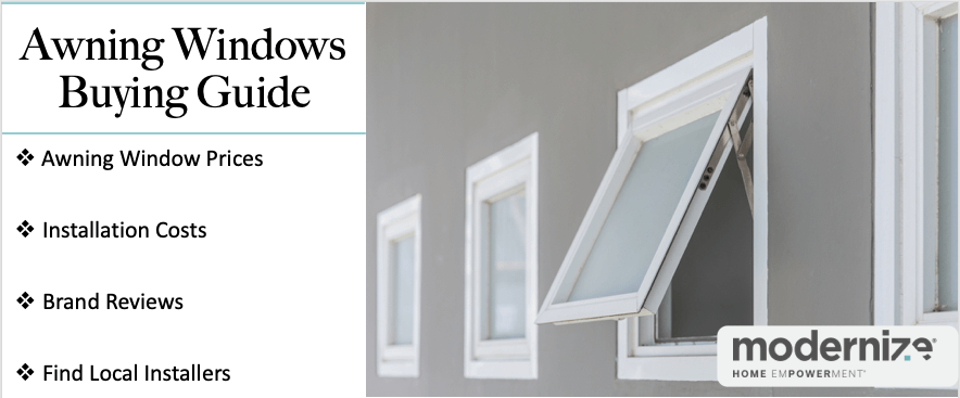Awning Window Prices 2020 Installation Costs Modernize