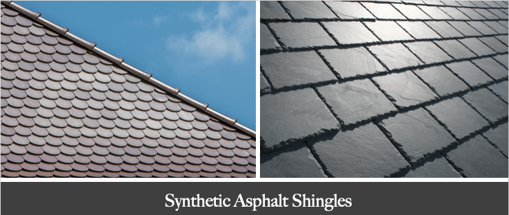 synthetic asphalt slate shingles