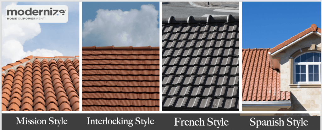 clay tile roof types