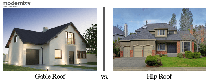 gable roof vs hip roofing