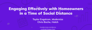 Partner Webinar: Engaging effectively with homeowners during the time of social distance (With Hatch)