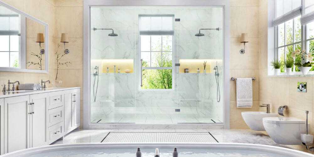 double-shower